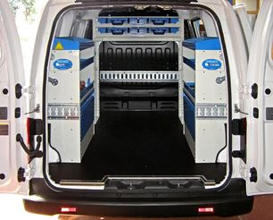Syncro racking in a Nissan NV200
