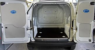 01_Floor liners and side wall liners in a van