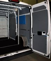 03_ Syncro accessories in a van operated by a door and window service
