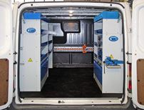 Van racking with storage modules and accessories