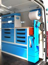 03_A work bench in a Syncro System mobile workshop