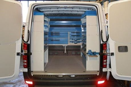 01_ Racking in a Mercedes van by Syncro System North America