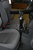 A notebook PC support for the passenger seat