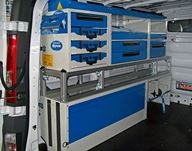 04_A custom racking system in a van